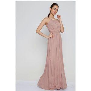 Grecian Style dusty rose maxi dress